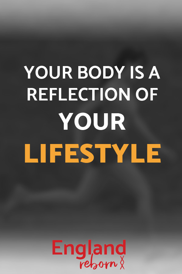inspirational quotes - lifestyle, your body is a reflection of your lifestyle