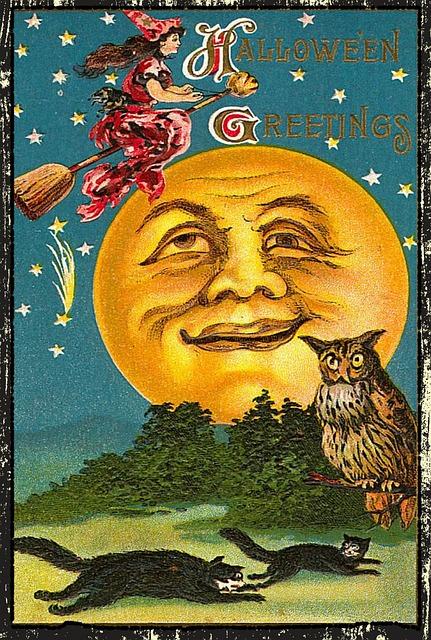 Vintage Halloween card www.EnglandReborn.com