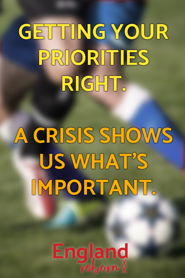 A crisis shows us what's important