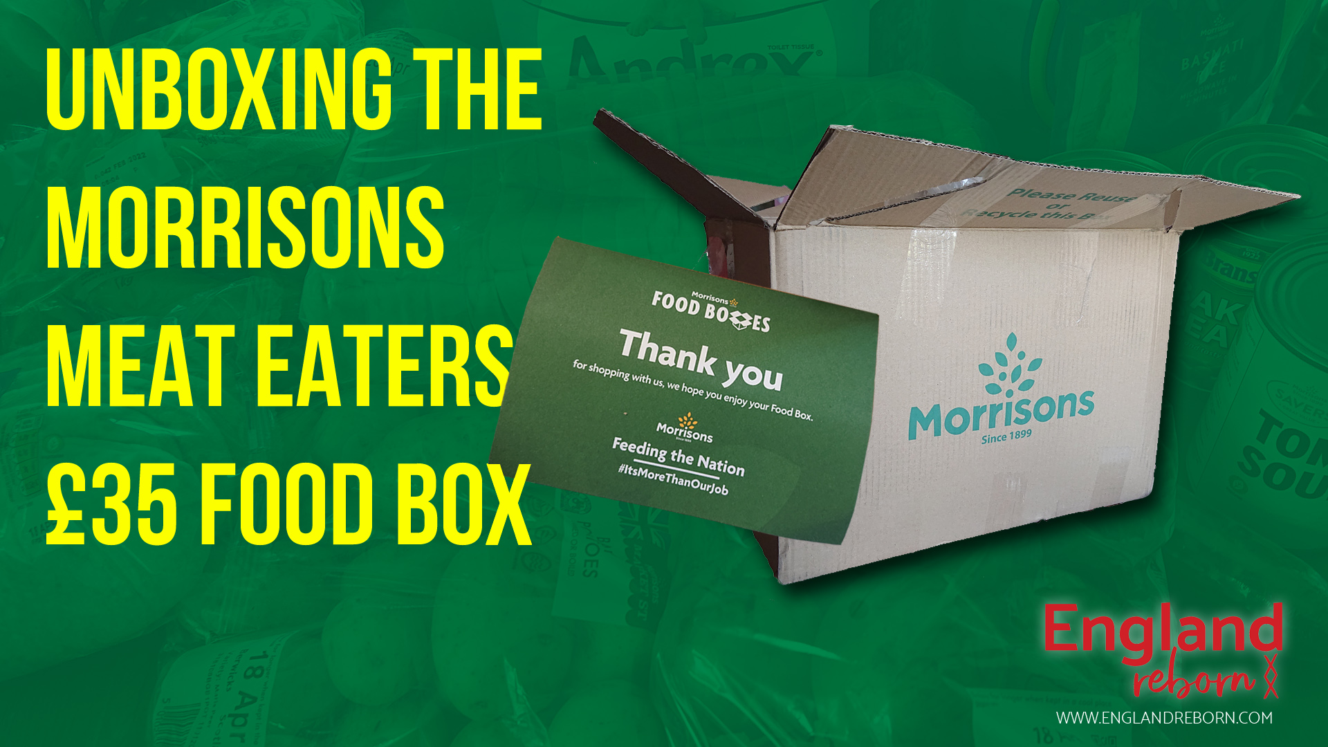 Unboxing the Morrisons Food Box